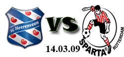 Heerenveen - Sparta Rotterdam - 14.03.2009