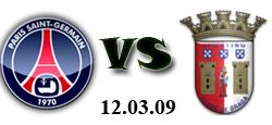 PSG Braga UEFA 12.03.2009