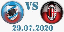 sampdoria milan 29_07_2020